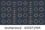 huge rosette wicker border... | Shutterstock . vector #633371504