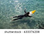 high angle view of surfer... | Shutterstock . vector #633376208