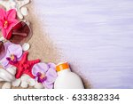 summer holiday background with... | Shutterstock . vector #633382334