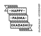 happy padma ekadashi day emblem ... | Shutterstock .eps vector #633383489