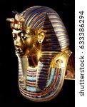 replica of funerary mask of...   Shutterstock . vector #633386294