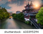 one of the many canals that run ... | Shutterstock . vector #633395294