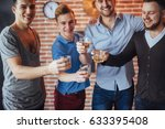 cheerful old friends... | Shutterstock . vector #633395408