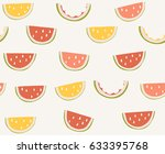 seamless fruit pattern | Shutterstock .eps vector #633395768