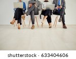 four people in waiting room... | Shutterstock . vector #633404606