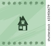 house sign. flat icon. | Shutterstock .eps vector #633406679
