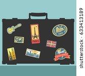 set of traveler sticker...   Shutterstock .eps vector #633413189