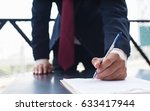 business man sign. | Shutterstock . vector #633417944