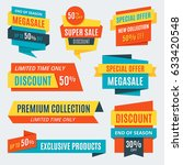 big sale banners  labels ... | Shutterstock .eps vector #633420548