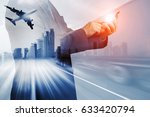 businessman against generic big ... | Shutterstock . vector #633420794