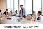 businessman stands to address... | Shutterstock . vector #633424499