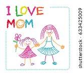 vector children s drawing by...   Shutterstock .eps vector #633425009