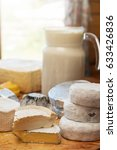 set of different cheese ... | Shutterstock . vector #633426836