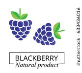 blackberry label | Shutterstock .eps vector #633436016