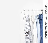stripped clothes on a  rack ... | Shutterstock . vector #633446834