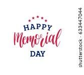 vector happy memorial day card. ... | Shutterstock .eps vector #633447044