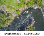 aerial view of rafting on a... | Shutterstock . vector #633450650