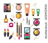 vector flat cosmetics... | Shutterstock .eps vector #633452954