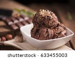 chocolate ice cream | Shutterstock . vector #633455003