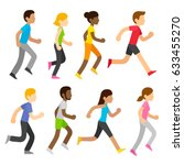 group of diverse marathon... | Shutterstock .eps vector #633455270