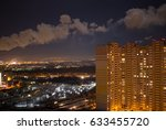 night city view  industrial...   Shutterstock . vector #633455720