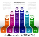 stairs infographic design... | Shutterstock .eps vector #633459248