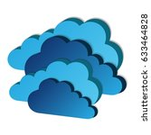 4 abstract clouds   Shutterstock . vector #633464828