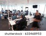 interior of busy modern open... | Shutterstock . vector #633468953