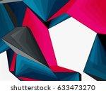 low poly geometric 3d shape... | Shutterstock .eps vector #633473270