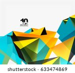 3d triangles geometric vector... | Shutterstock .eps vector #633474869