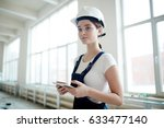 portrait of young woman wearing ... | Shutterstock . vector #633477140