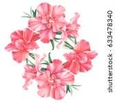 rhododendron  beautiful bouquet ... | Shutterstock . vector #633478340