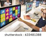 duck toy bricks rugby secret...   Shutterstock . vector #633481388