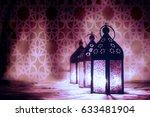 eid mubarak ramadan kareem   ... | Shutterstock . vector #633481904