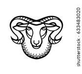 linear stylized drawing   head... | Shutterstock .eps vector #633483020
