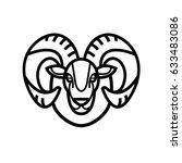 linear stylized drawing   head... | Shutterstock .eps vector #633483086