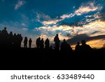 contour of people on a... | Shutterstock . vector #633489440