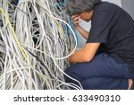 Small photo of System admin strain, The tangled network cable.