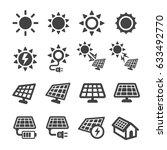 solar energy icon | Shutterstock .eps vector #633492770