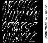 hand drawn dry brush font....   Shutterstock .eps vector #633500054
