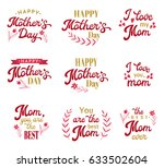 mothers day hand lettering... | Shutterstock .eps vector #633502604
