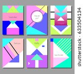 set of artistic colorful... | Shutterstock .eps vector #633504134