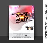Pool Party Flyer  Template Or...
