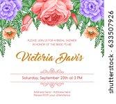 bridal shower invitation... | Shutterstock .eps vector #633507926