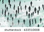 people in suits flying  3d... | Shutterstock . vector #633510008