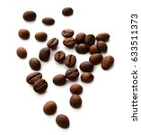 coffee beans close up | Shutterstock . vector #633511373