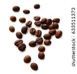 coffee beans close up   Shutterstock . vector #633511373