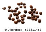 roasted coffee beans isolated...   Shutterstock . vector #633511463