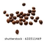coffee beans. isolated on white ... | Shutterstock . vector #633511469