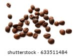 fresh coffee beans isolated on... | Shutterstock . vector #633511484